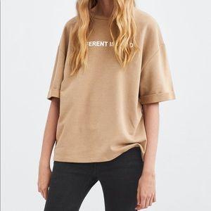 Zara Graphic Oversize Shirt
